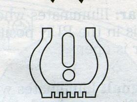 желтый знак с восклицательным знаком на панели хонда